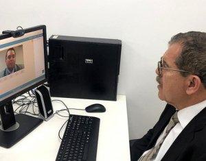 Juiz de São João do Piauí atende corregedor do CNJ por videoconferência