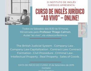 Turma de Inglês Jurídico com aulas aos sábados inicia dia 21
