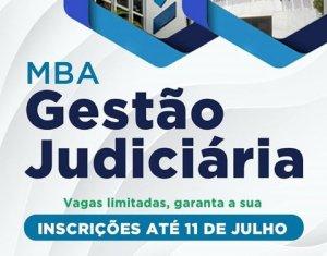 MBA em Gestão Judiciária está com inscrições abertas até 11 de julho