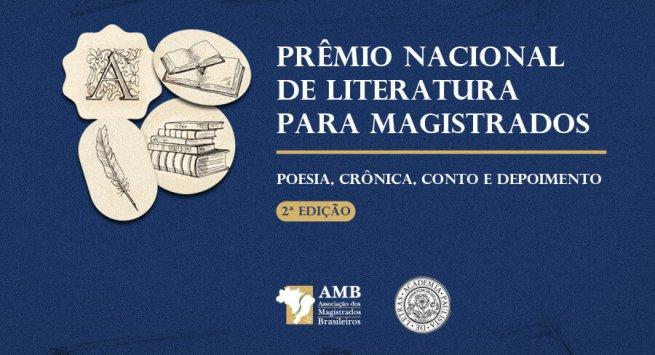 Inscrições abertas para 2ª edição do Prêmio Nacional de Literatura para magistrados